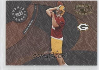 2005 Donruss Throwback Threads - Rookie Hoggs #RH-15 - Aaron Rodgers /750