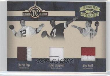 2005 Donruss Throwback Threads - Throwback Collection - Material Prime #TC-16 - Charlie Frye, Alex Smith, Jason Campbell /25