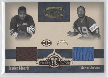 2005 Donruss Throwback Threads - Throwback Collection - Material #TC-13 - Braylon Edwards, Vincent Jackson /150