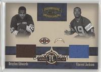 Braylon Edwards, Vincent Jackson #/150