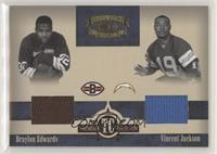 Braylon Edwards, Vincent Jackson [EX to NM] #/150