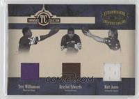 Braylon Edwards, Troy Williamson, Matt Jones /100