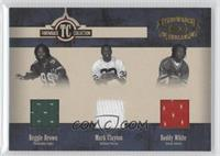 Reggie Brown, Mark Clayton, Roddy White /100