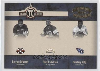 2005 Donruss Throwback Threads - Throwback Collection #TC-24 - Braylon Edwards, Vincent Jackson, Courtney Roby