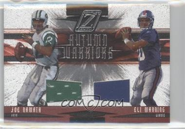2005 Donruss Zenith - Autumn Warriors - Materials [Memorabilia] #AW-11 - Eli Manning, Joe Namath /250