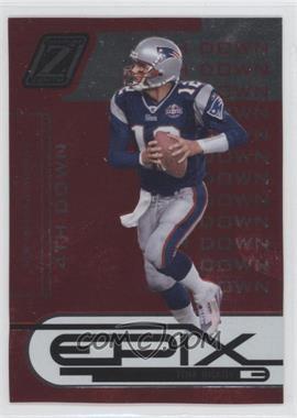 2005 Donruss Zenith - Epix - 4th Down Red #E-24 - Tom Brady /50