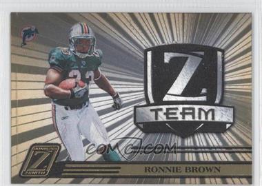 2005 Donruss Zenith - Z Team - Gold #ZT-15 - Ronnie Brown /100