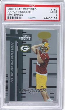 2005 Leaf Certified Materials - [Base] #162 - New Generation - Aaron Rodgers /1000 [PSA 9 MINT]
