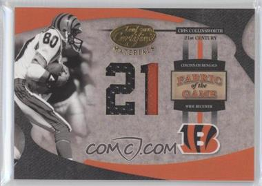 2005 Leaf Certified Materials - Fabric of the Game - 21st Century #FG-15 - Cris Collinsworth /21