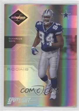 2005 Leaf Limited - [Base] - Spotlight Silver #172 - DeMarcus Ware /50