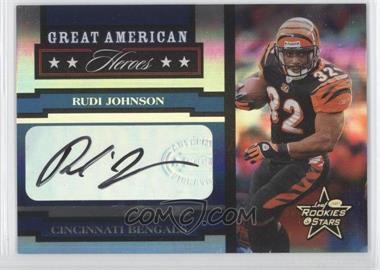 2005 Leaf Rookies & Stars - Great American Heroes - Signatures [Autographed] #GAH-23 - Rudi Johnson /100