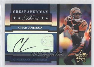 2005 Leaf Rookies & Stars - Great American Heroes - Signatures [Autographed] #GAH-6 - Chad Johnson /50