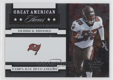 2005 Leaf Rookies & Stars - Great American Heroes - White #GAH-11 - Derrick Brooks /750