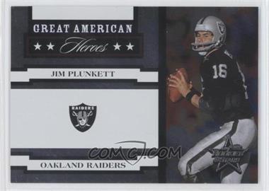 2005 Leaf Rookies & Stars - Great American Heroes - White #GAH-15 - Jim Plunkett /750