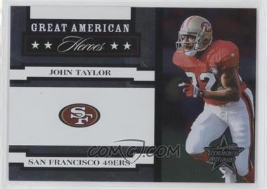 2005 Leaf Rookies & Stars - Great American Heroes - White #GAH-16 - John Taylor /750