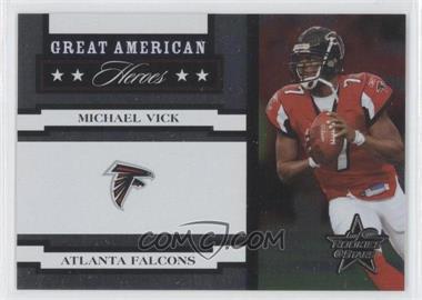 2005 Leaf Rookies & Stars - Great American Heroes - White #GAH-19 - Michael Vick /750
