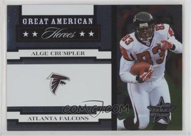 2005 Leaf Rookies & Stars - Great American Heroes - White #GAH-2 - Alge Crumpler /750