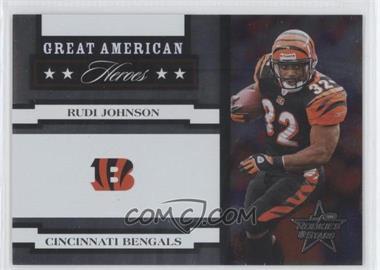 2005 Leaf Rookies & Stars - Great American Heroes - White #GAH-23 - Rudi Johnson /750