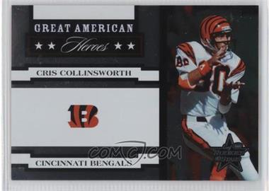2005 Leaf Rookies & Stars - Great American Heroes - White #GAH-9 - Cris Collinsworth /750
