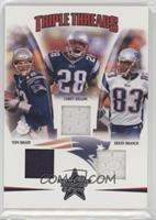 Corey Dillon, Deion Branch, Tom Brady /150