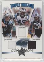 Julius Peppers, Stephen Davis, Jake Delhomme /150