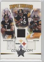 Ben Roethlisberger, Hines Ward, Jerome Bettis /150