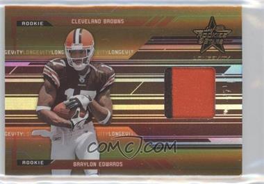 2005 Leaf Rookies & Stars Longevity - [Base] - Gold #255 - Braylon Edwards /50