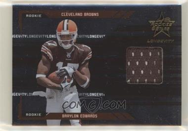 2005 Leaf Rookies & Stars Longevity - [Base] #255 - Braylon Edwards /299