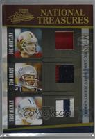 Troy Aikman, Joe Montana, Tom Brady [Noted] #/25