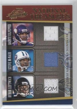 2005 Playoff Absolute Memorabilia - National Treasures #NT-5 - Daunte Culpepper, Steve Smith, Byron Leftwich /50