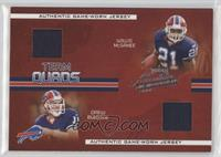 Willis McGahee, Drew Bledsoe, Lee Evans, Eric Moulds [Noted] #/50
