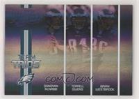 Donovan McNabb, Terrell Owens, Brian Westbrook #/100