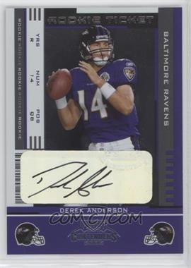 2005 Playoff Contenders - [Base] #134 - Rookie Ticket - Derek Anderson
