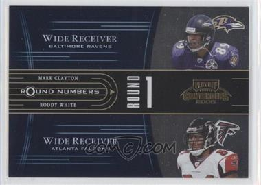2005 Playoff Contenders - Round Numbers - Blue #RN-6 - Mark Clayton, Roddy White /750