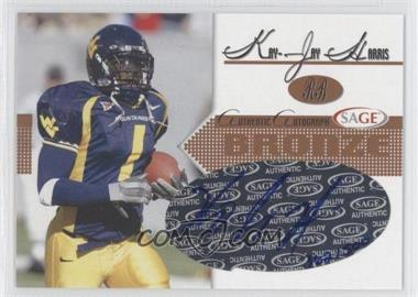 2005 SAGE - Autographs - Bronze #A21 - Kay-Jay Harris /500