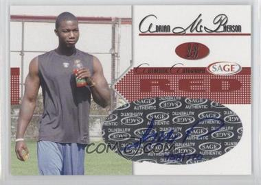 2005 SAGE - Autographs - Red #A27 - Adrian McPherson /770