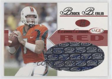 2005 SAGE - Autographs - Red #A4 - Brock Berlin /400