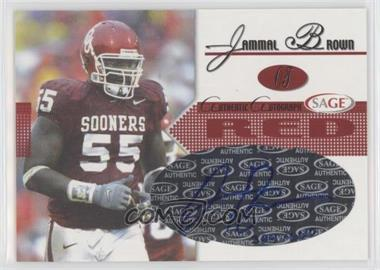 2005 SAGE - Autographs - Red #A5 - Jammal Brown /660