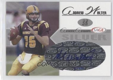 2005 SAGE - Autographs - Silver #A44 - Andrew Walter /400