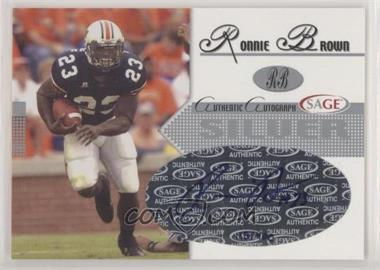 2005 SAGE - Autographs - Silver #A7 - Ronnie Brown /300