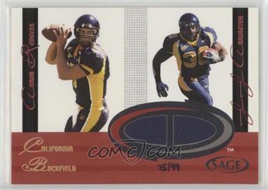 2005 SAGE - Jersey Combos #C8 - Aaron Rodgers, J.J. Arrington /99