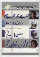 Braylon Edwards, Mike Williams, Troy Williamson, Roddy White /25