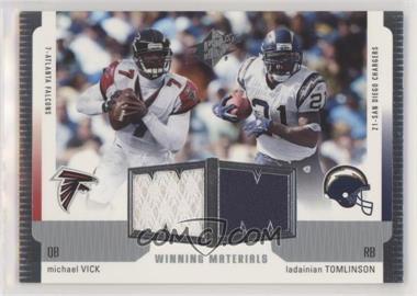 2005 SPx - Veteran Winning Materials #WM-VT - Michael Vick, LaDainian Tomlinson