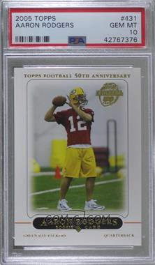 2005 Topps - [Base] #431 - Aaron Rodgers [PSA 10 GEM MT]