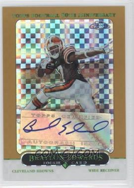 2005 Topps Chrome - [Base] - Gold X-Fractor #174 - Braylon Edwards /399