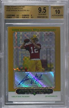2005 Topps Chrome - [Base] - Gold X-Fractor #190 - Aaron Rodgers /399 [BGS 9.5 GEM MINT]