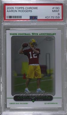 2005 Topps Chrome - [Base] #190 - Aaron Rodgers [PSA 9 MINT]