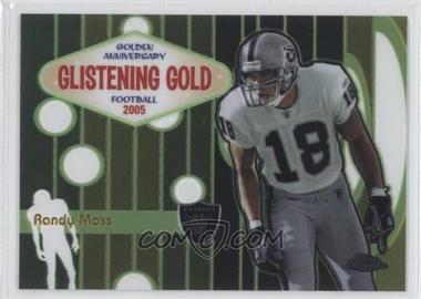 2005 Topps Chrome - Glistening Gold #GG5 - Randy Moss