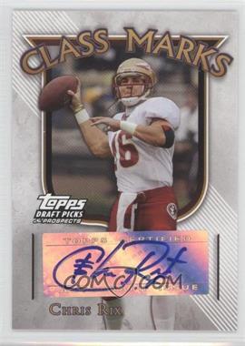 2005 Topps Draft Pick & Prospects - Class Marks #CM-CR - Chris Rix