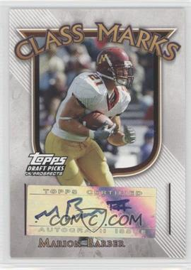 2005 Topps Draft Pick & Prospects - Class Marks #CM-MB - Marion Barber